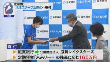滋賀銀行 地域スポーツ活性化へ寄付