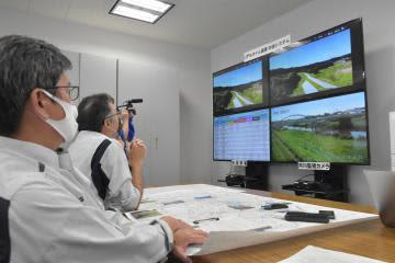 ドローンで防災訓練 浸水想定、状況を確認 茨城県