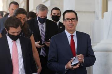 米下院議長と財務長官、コロナ経済対策巡り協議 30日も継続へ