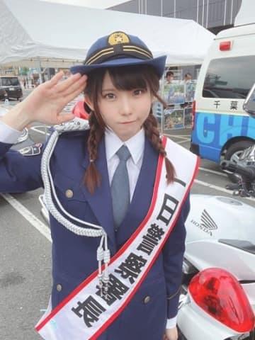 コスプレイヤーえなこが千葉県成田警察署の一日警察署長のオフショット公開「教えていただいた護身術も忘れないように」