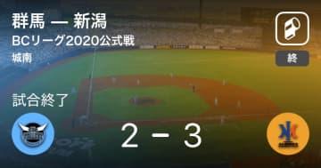 【BCリーグ公式戦】新潟が群馬から勝利をもぎ取る