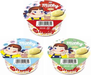 ミルキーのアイスが美味しくなって再登場! 包み紙風パッケージも可愛い~。