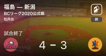 【BCリーグ公式戦】福島が新潟から勝利をもぎ取る