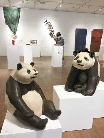 日本と台湾の漆芸作家による約100点が集まった交流展=横浜市神奈川区