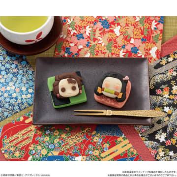 """「鬼滅の刃」炭治郎&禰豆子を""""和菓子""""で表現! 見た目、味、どっちも楽しめるフォトジェニックスイーツ♪"""