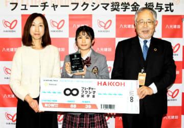 右から宗像社長、松本紗夜さん、真由美さん