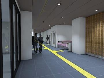 新今宮駅南北通路のリニューアルイメージ(提供)