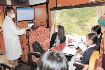 三陸鉄道を「動く教室」にして行われた海と希望の学校