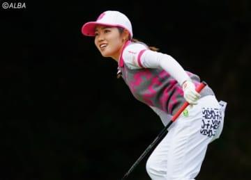 古江彩佳はこの日ベストの「66」 昨年覇者、ホステスプロとしての意地を見せた(撮影:米山聡明)