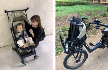 コロナ禍でママの自転車利用が急増 前カゴに入るミニサイズのベビーカーが登場【コロナに勝つ!ニッポンの会社】