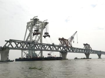 中国企業が建設するバングラ最長の橋、工事が順調に進む