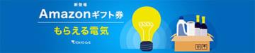 ポイントではなくAmazonギフト券で還元、東京ガス「もらえる電気」