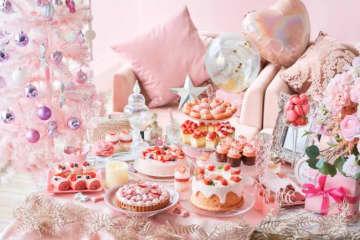 """ピンクづくしの""""苺ビュッフェ""""開催決定! クリスマスを待ち望む女の子の部屋がテーマ"""
