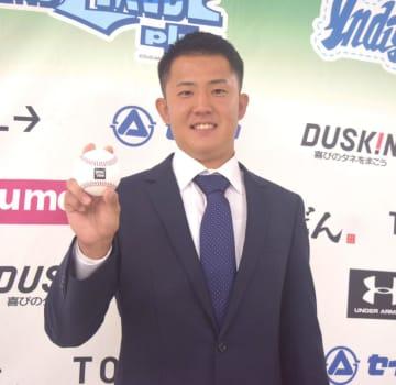 広島5位の行木「支配下選手の指名でびっくり」カープの印象は「これから勉強します」
