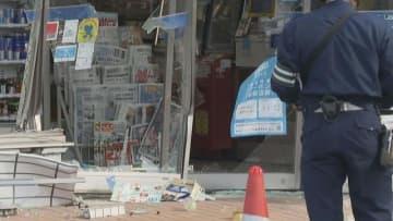 82歳の車がコンビニ突入、女性店員けが「踏み間違えた」 岐阜・羽島市
