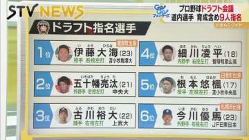 プロ選手が9人誕生 ファイターズ1位伊藤投手だけじゃない「北海道の星」