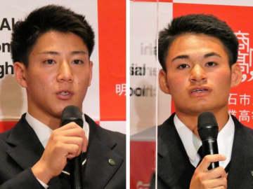【ドラフト2020】「高め合いここまでこれた」明石商の中森と来田、揃って上位指名