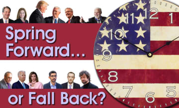 Will we spring forward with Trump or fall back with Biden on Election Day?