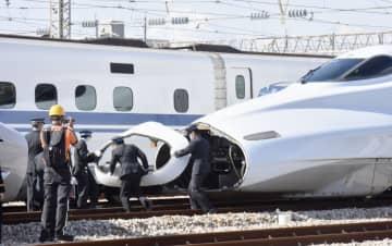 山陽新幹線が地震復旧の訓練