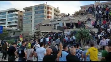 【速報】トルコ沖エーゲ海でM7.0の地震 沿岸では津波被害