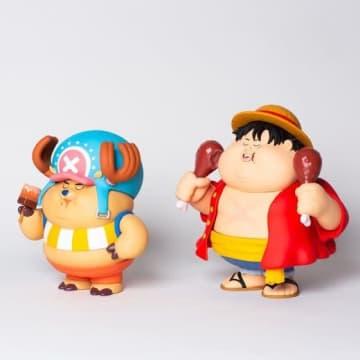 """「ワンピース」ルフィ&チョッパーの""""Chunky=ずんぐり""""ソフビ登場! 「BUSTERCALL」アーティストのイラストを立体化"""