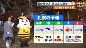 【北海道の天気 11/17(火)】まるで梅雨!?北海道の週間予報に傘マーク並ぶ