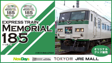 JR東日本グループが引退する185系を全力特集! NewDays や JRE MALL で11/21からオリジナルグッズ販売