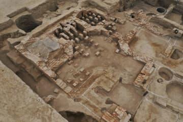 天山北麓で古代の公共浴場跡を発見 新疆ウイグル自治区