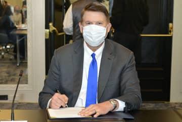 20日、米首都ワシントンで米台の経済対話に出席したクラック米国務次官(中央通信社=共同)