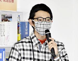震災の経験や教訓を語る小野さん
