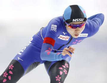 女子1000メートル 優勝した高木美帆=YSアリーナ八戸