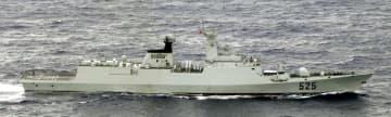 中国海軍のフリゲート艦(防衛省統合幕僚監部提供)