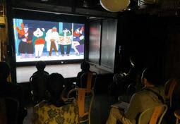 世界各国の作品を上映している龍野国際映像祭の会場=たつの市龍野町富永