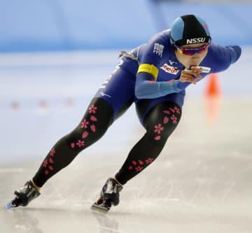 女子1500メートル 優勝した高木美帆=YSアリーナ八戸