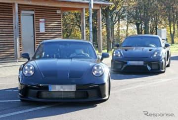キャラが濃すぎる2台!? ポルシェ 911 GT3 と 718ケイマン GT4 RS を同時スクープ