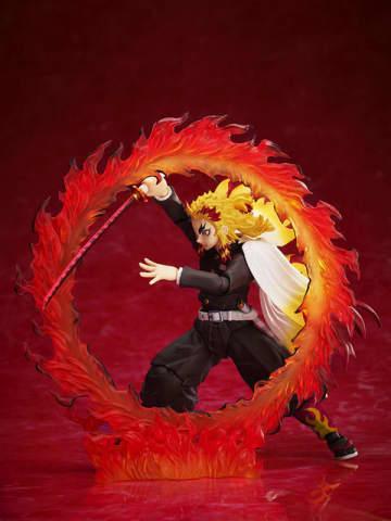 「鬼滅の刃」無限列車編、煉獄杏寿郎がアクションフィギュア化! 炎の呼吸をまとった姿も再現可能!