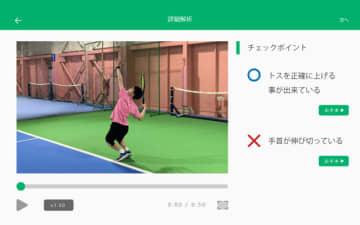 理想のフォームに導くAIテニス指導サービス「TennisLabo」実証実験スタート