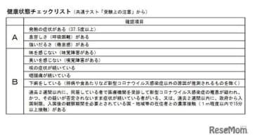 【大学入学共通テスト2021】体調管理や追試申請…コロナ対応