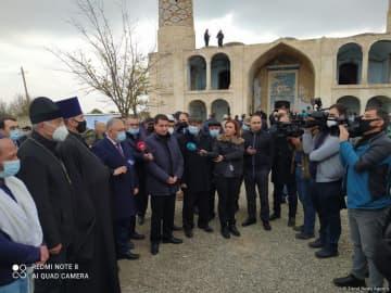 Assistant to Azerbaijan's president, diplomats, Garabagh FC representatives visit Aghdam Mosque