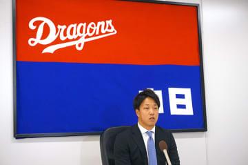 中日・柳が400万円ダウンでサイン 選手会からの抗議文に加藤球団代表「我々も反省している」