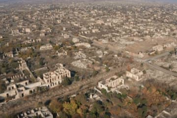 Aghdam district of Azerbaijan after 27 years of Armenian occupation