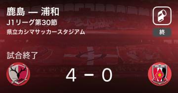 【J1第30節】鹿島が浦和を突き放しての勝利