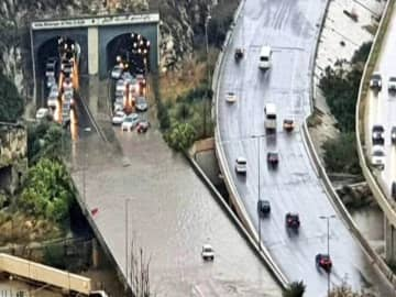 Streets engulfed as Lebanon hit by torrential rains