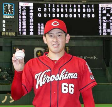 ローテ完走の広島・遠藤が1000万増の年俸2400万円でサイン「カープを支えるために自覚を持っていく」