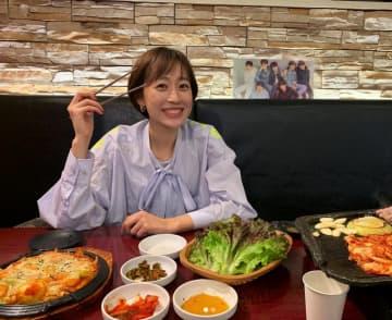 瀬戸大也の妻・優佳さん「大好きなBTS(写真)がいてニンマリ」韓国料理ランチでご満悦