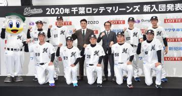 ロッテ入団発表 鈴木「夢は最多勝」 背番号「35」