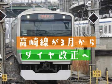 高崎線が2021年3月13日からダイヤ改正!通勤快速が快速アーバンに統一へ