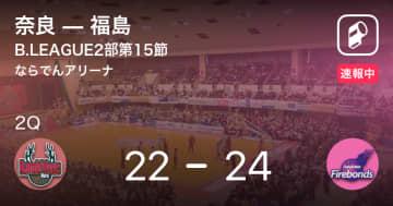 【速報中】1Q終了し福島が奈良に2点リード