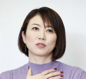 インタビューに答える田中雅美さん=2020年11月16日、東京都港区