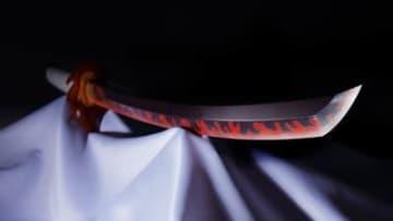『鬼滅の刃』煉獄杏寿郎の日輪刀が1/1サイズで商品化、セリフ収録「うまいモード」も